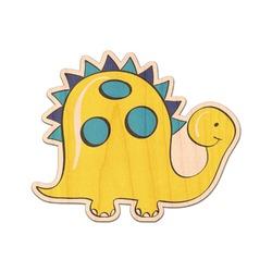 Dinosaur Print Genuine Wood Sticker (Personalized)