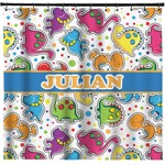 Dinosaur Print Shower Curtain (Personalized)