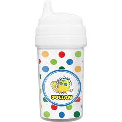Dots & Dinosaur Toddler Sippy Cup (Personalized)