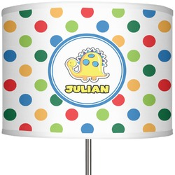 """Dots & Dinosaur 13"""" Drum Lamp Shade Polyester (Personalized)"""