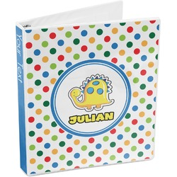 Dots & Dinosaur 3-Ring Binder (Personalized)