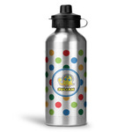 Dots & Dinosaur Water Bottle - Aluminum - 20 oz (Personalized)