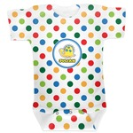 Dots & Dinosaur Baby Bodysuit (Personalized)