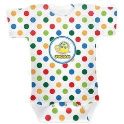 Dots & Dinosaur Baby Bodysuit (Personalized)