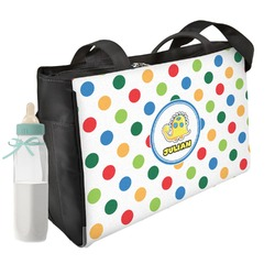 Dots & Dinosaur Diaper Bag (Personalized)