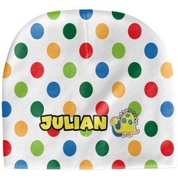 Dots & Dinosaur Baby Hat (Beanie) (Personalized)