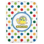 Dots & Dinosaur Baby Swaddling Blanket (Personalized)
