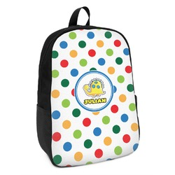 Dots & Dinosaur Kids Backpack (Personalized)