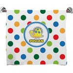 Dots & Dinosaur Full Print Bath Towel (Personalized)