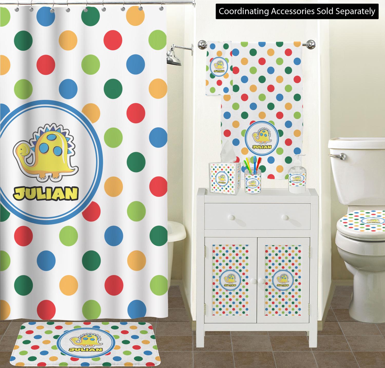 ... Dots & Dinosaur Bathroom Scene ...