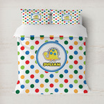 Dots & Dinosaur Duvet Covers (Personalized)