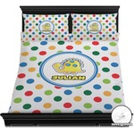 Dots & Dinosaur Duvet Cover Set (Personalized)