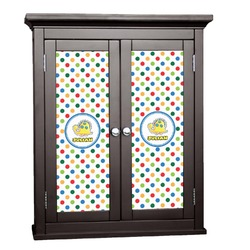 Dots & Dinosaur Cabinet Decal - XLarge (Personalized)