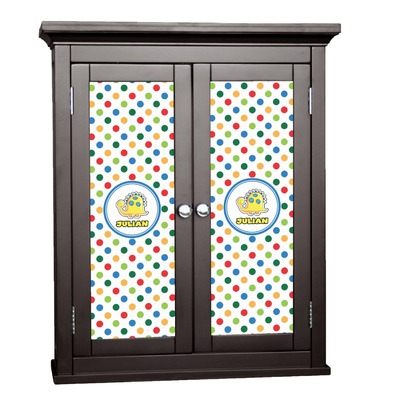 Dots & Dinosaur Cabinet Decal - Custom Size (Personalized)