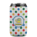 Dots & Dinosaur Can Sleeve (12 oz) (Personalized)