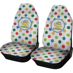 Dots & Dinosaur Car Seat Covers (Set of Two) (Personalized)