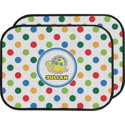 Dots & Dinosaur Car Floor Mats (Back Seat) (Personalized)