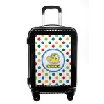Dots & Dinosaur Carry On Hard Shell Suitcase (Personalized)