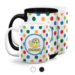 Dots & Dinosaur Coffee Mugs (Personalized)