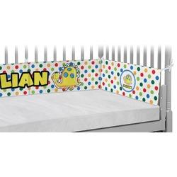 Dots & Dinosaur Crib Bumper Pads (Personalized)