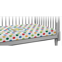 Dots & Dinosaur Crib Fitted Sheet (Personalized)