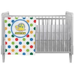 Dots & Dinosaur Crib Comforter / Quilt (Personalized)