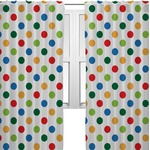 Dots & Dinosaur Curtains (2 Panels Per Set) (Personalized)