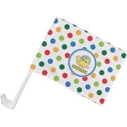 Dots & Dinosaur Car Flag (Personalized)