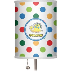"Dots & Dinosaur 7"" Drum Lamp Shade (Personalized)"