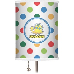 Dots & Dinosaur Drum Lamp Shade (Personalized)