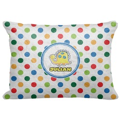 "Dots & Dinosaur Decorative Baby Pillowcase - 16""x12"" (Personalized)"