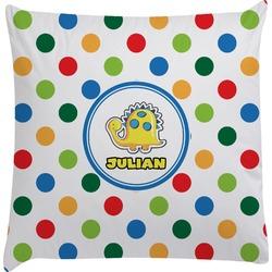 Dots & Dinosaur Decorative Pillow Case (Personalized)