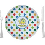 Dots & Dinosaur Glass Lunch / Dinner Plates 10