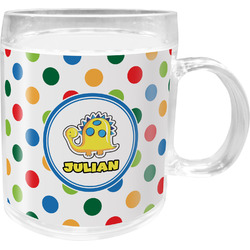 Dots & Dinosaur Acrylic Kids Mug (Personalized)
