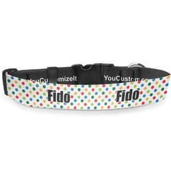 Dots & Dinosaur Deluxe Dog Collar (Personalized)