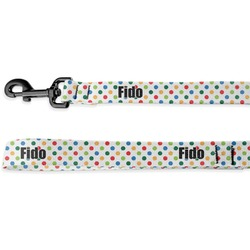 Dots & Dinosaur Deluxe Dog Leash - 4 ft (Personalized)