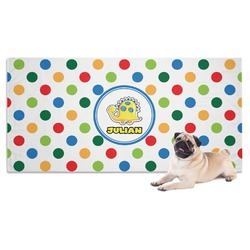 Dots & Dinosaur Dog Towel (Personalized)