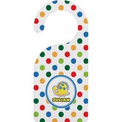 Dots & Dinosaur Door Hanger (Personalized)