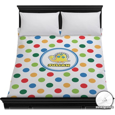 Dots & Dinosaur Duvet Cover (Personalized)