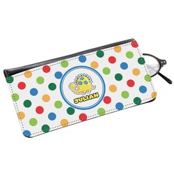 Dots & Dinosaur Genuine Leather Eyeglass Case (Personalized)
