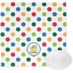 Dots & Dinosaur Wash Cloth (Personalized)