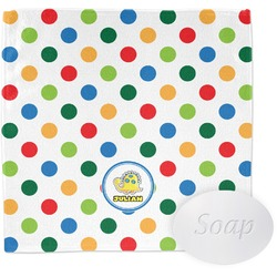 Dots & Dinosaur Wash Cloth (Personalized)