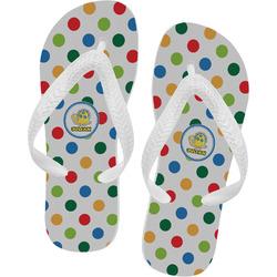 Dots & Dinosaur Flip Flops (Personalized)