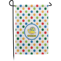 Dots & Dinosaur Garden Flag (Personalized)