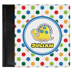 Dots & Dinosaur Genuine Leather Baby Memory Book (Personalized)