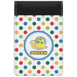 Dots & Dinosaur Genuine Leather Small Memo Pad (Personalized)