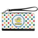 Dots & Dinosaur Genuine Leather Smartphone Wrist Wallet (Personalized)