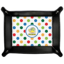 Dots & Dinosaur Genuine Leather Valet Tray (Personalized)