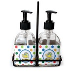 Dots & Dinosaur Soap & Lotion Dispenser Set (Glass) (Personalized)