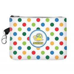 Dots & Dinosaur Zip ID Case (Personalized)